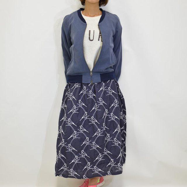 LUEUF 刺繍 ロングスカート